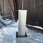 Saltsteinsautomat fra Gol stål stengt